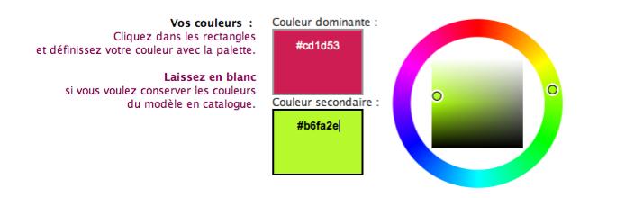 faire part personnalisé couleurs