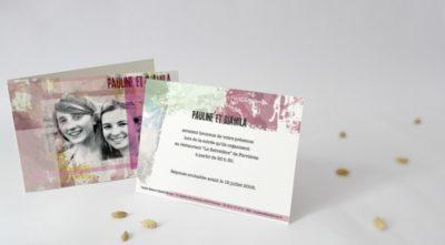 Carton d'invitation Metissage