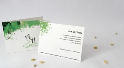 Carton d'invitation Nouveau Retro