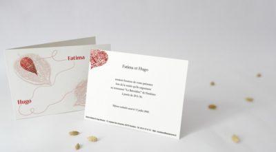 Carton d'invitation Physalis