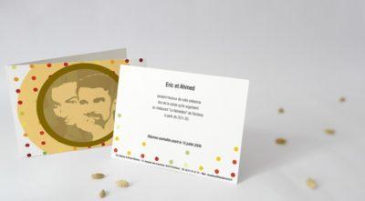 Carton d'invitation Plumeti