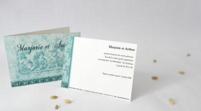 Carton d'invitation Putti