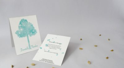 Carton d'invitation Sérénité