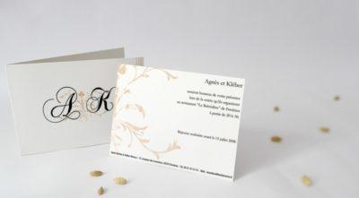 Carton d'invitation Alliance