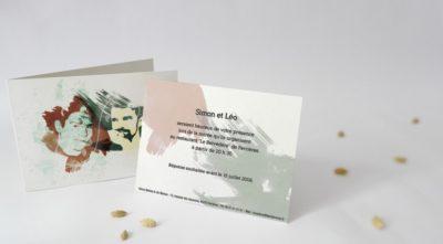 Carton d'invitation Expression