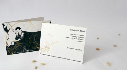 Carton d'invitation Galanterie