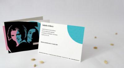 Carton d'invitation Graphic Pop