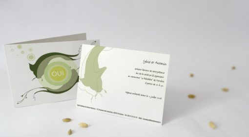 Carton d'invitation Harmonie