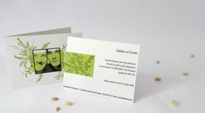 Carton d'invitation Herbier