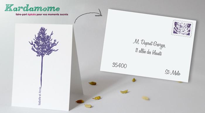 Vos timbres assortis à vos faire-part… offerts