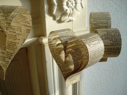 famille décoration vieux livres