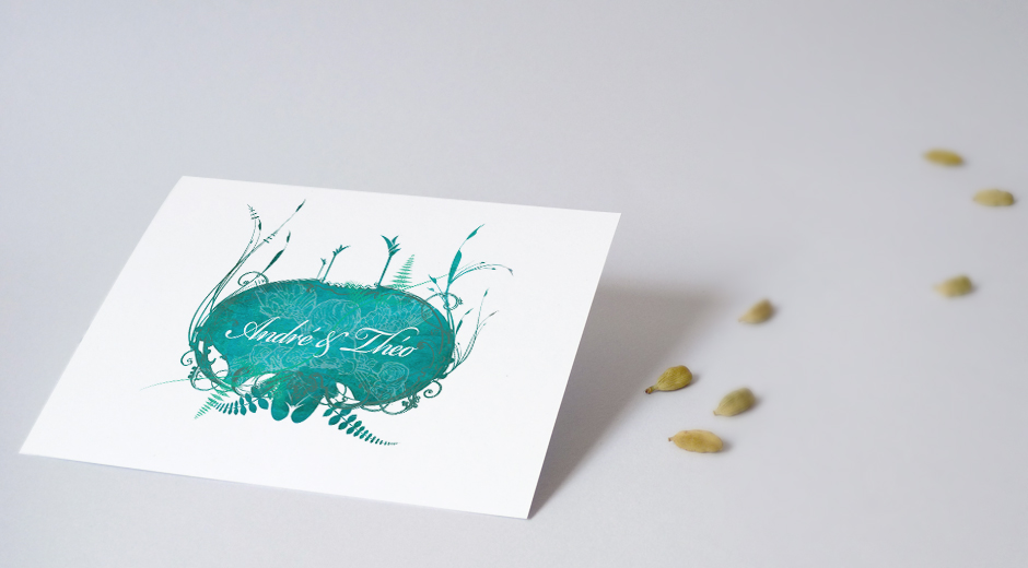 faire-part original en papier recyclé pour mariage green pour tous et toutes