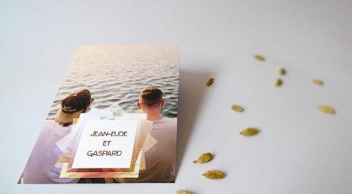carte invitation mariage gay design